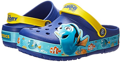 Crocs Kids' Finding Dory Light-Up Clog, Cerulean Blue/Lemon, 11 M US Little Kid by Crocs (Image #6)