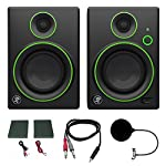 "Mackie CR4BT CR Series Channel Studio Monitor (Pair) w/ Pro DJ Bundle Includes, 3-feet 1/8"" TRS Male to Two 1/4"" TS Male Cable & Universal Pop Filter Microphone Wind Screen w/ Mic Stand Clip from Mackie"