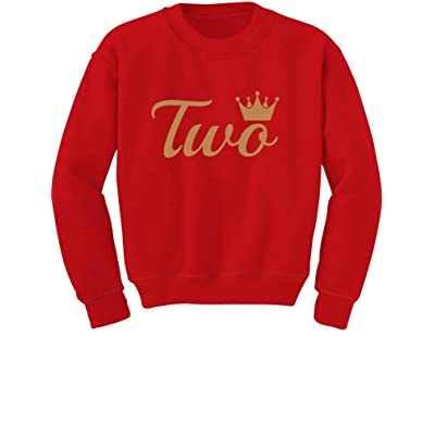 Second Birthday Gift 2 Year Old Birthday Crown Toddler Kids T-Shirt Tstars