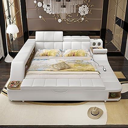 Amazon.com: 0411TB023 Modern soft bed tatami bedroom King queen ...