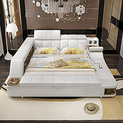 Amazon.com: 0411TB023 Modern Soft Bed Tatami Bedroom King ...