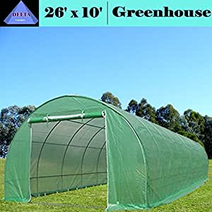 Greenhouse 26'x10' (B2) 119 lbs - Green House Walk in Hot House By DELTA Canopies