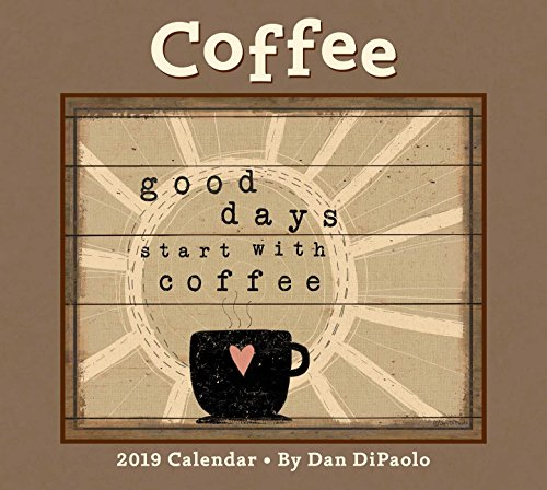 Coffee 2019 Deluxe Wall Calendar