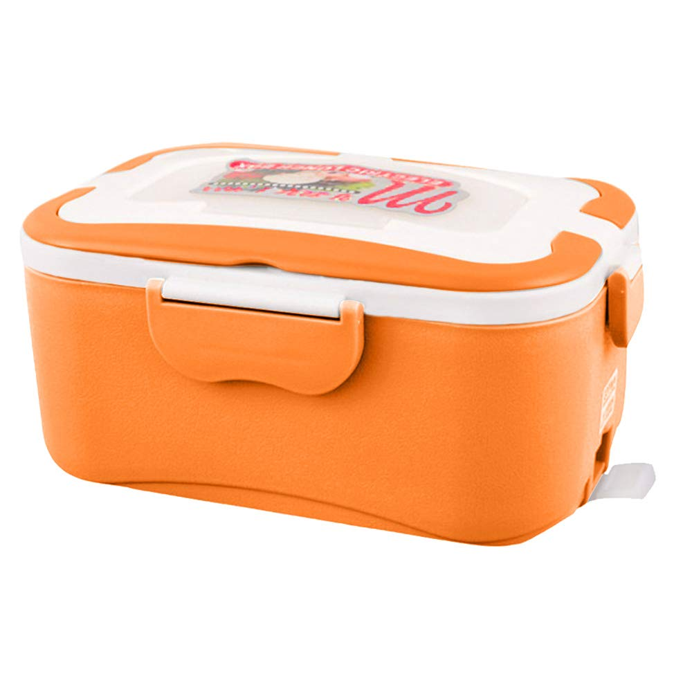 Electric Lunch Box Food Heater,12V 45W 1.5L Portable Heating Lunch Box Food Container Warmer Bento Boxes with Cigarette Lighter Adapter and Free Spoon Fork