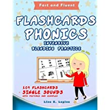 Phonics Flashcards with Pictures and Blending Words