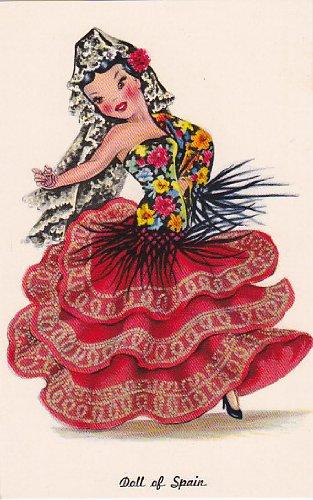 Counted Cross Stitch Pattern Chart Graph - International Doll Spain Spanish Dancer