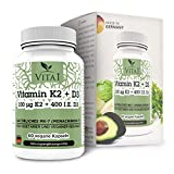 VITA1 Vitamin K2 100µg • 60 Capsules (2-Months-Supply) • Highly dosed with Vitamin D3 • Made in Germany