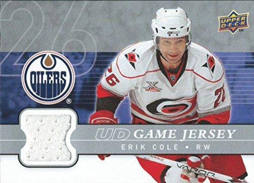 (HCW) 2008-09 Upper Deck Game Jersey ERIK COLE NHL Hockey 01223