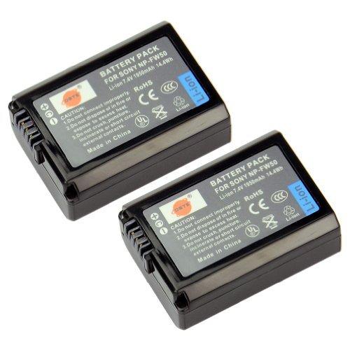 DSTE®(2 Pack)Ersatz Batterie für Sony NP-FW50 Alpha 7 a7 7R a7R 7R II a3000 a6000 NEX-3 NEX-3N NEX-5 NEX-5N NEX-5R NEX-5T NEX-6 NEX-7 NEX-C3 NEX-F3 SLT-A33 SLT-A35 SLT-A37 SLT-A55V Cyber-shot DSC-RX10