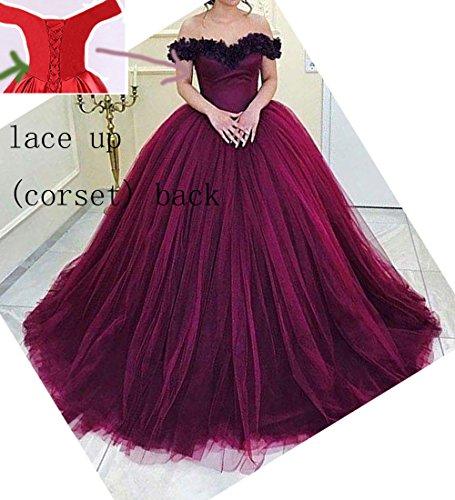 Quinceanera Lange Ballkleider Damen Kleider D Abendmode A Linie Violett Party O Formales W FnvSwqqx
