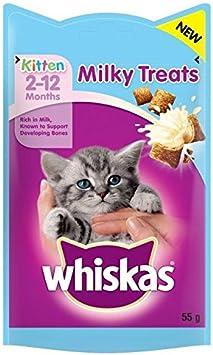 whiskas Kitten 2-12 Months Milky Treats 55g PACK OF 4