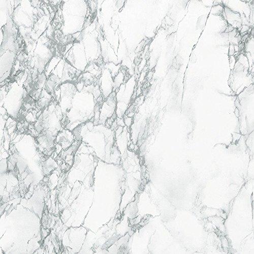 d-c-fix 96396 Decorative Self-Adhesive Film, Grey Marble, 17.71'' x 78'' Roll - 2 pk by DC Fix