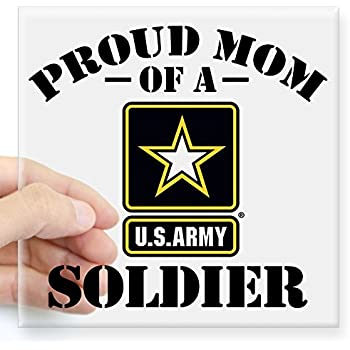 Cafepress proud u s army mom square sticker 3 x 3 square bumper sticker