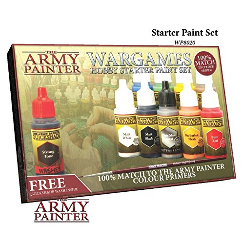 Miniatures Paint Set, 10 Model Paints with FREE Highlighting Brush, 18ml/Bottle, Miniature Painting Kit, Non Toxic Acrylic Paint Set, Wargames Hobby Starter Paint Set by The Army Painter (New Version) Acrylic Model Paint