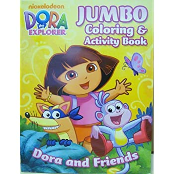 Dora The Explorer Jumbo Coloring And Activity Book Toy