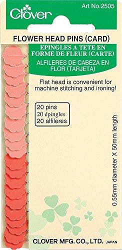 Clover Flower Head Pins Card, 20 ea. Q2505