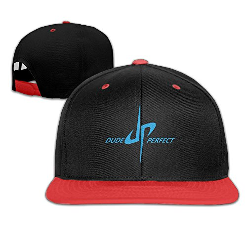 youtube-dp-dude-perfect-sports-adjustable-childs-red-baseball-caps-hip-hop-hats