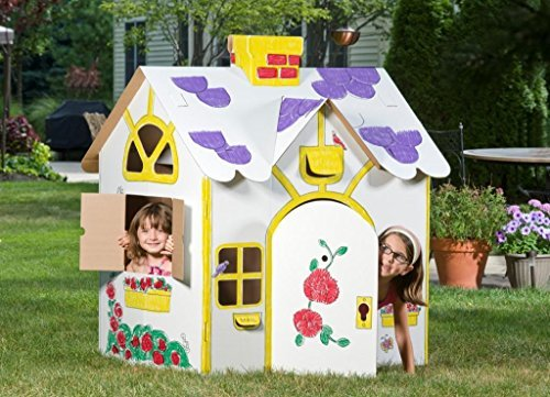 Box Creations Corrugated Play House - Markers Included by Box Creations