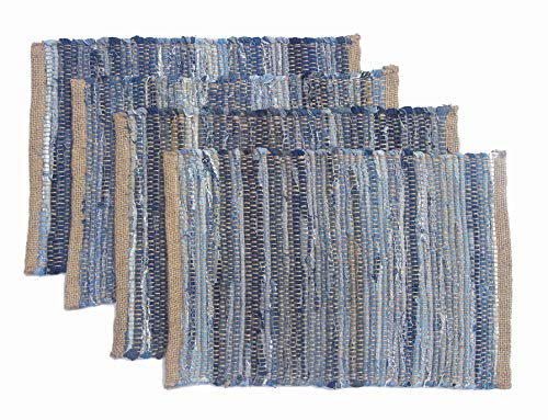 - Chardin Home Eco friendly Denim/Jute Placemats (set of 4) , Size: 14''x19''