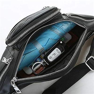 Lannmart Multi-Pocket Men Fashion Waist Bags Waist Pack Belt Bag Women Leather Fanny Pack Zipper Chest Bag Crossbody Bags Female Ladies