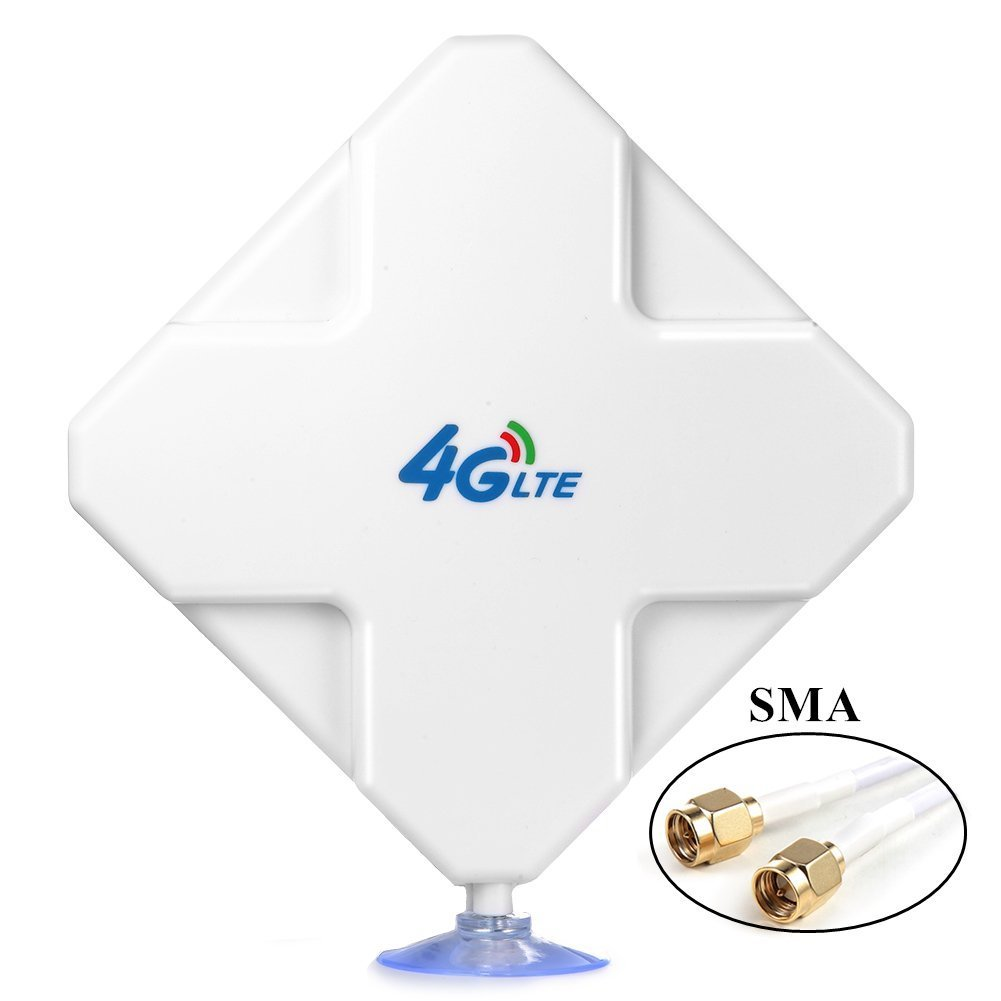SMA 4G LTE Antenna, Aigital 35DBi GSM High Gain 4G WiFi Signal Booster Amplifier Network Reception Long Range Extender Modem Adapter Antenne for Mobile Broadband Hotspot(SMA Male Connectors)