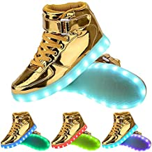 TUTUYU Kids 11 Colors LED Shoes High Top Fashion Sneakers For Halloween