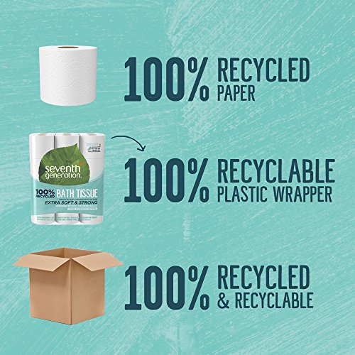 Seventh Generation khha Toilet Paper, Bath Tissue, 100% Recycled Paper, 144 Rolls