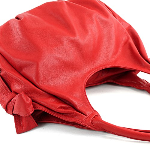 IT28 Rouge bandoulière en Sac modamoda de cuir Italiennes Nappa xP8qS0