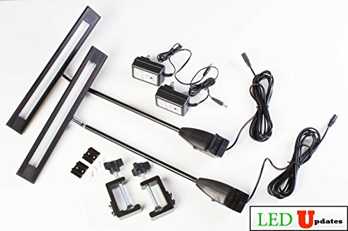 LEDupdates 2pcs Trade Show LED Light 20w for Popup Booth Exhibit back drop Panel with UL Listed Power supply