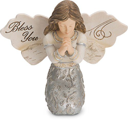 (Pavilion Gift Company 82418 Elements Bless You Girl Angel Figurine Kneeling and Praying 3.5 Inch)