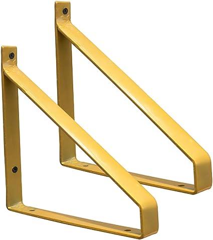 escuadras para estanterias Soporte de estante flotante de hierro alta resistencia montado en la pared,esquina sólido de metal en forma de L, adecuado ...