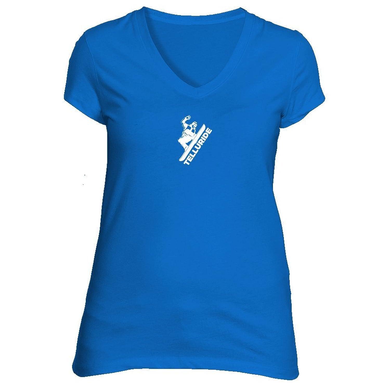 Telluride, Colorado Snowboarding - Women's V-Neck T-Shirt
