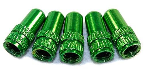 True Bicycle Presta Aluminum Alloy Bike Tire Valve Caps 2pcs (Green) by YEWTHMQAVSVRH