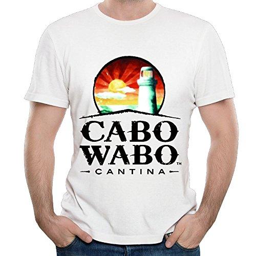 (ZHIJIANSHIGONG Men's Cabo Wabo Logo Casual Style Walk White Tee XXL Short Sleeve)