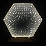 Tunnel Lamp Double-Side Infinity Light Tunnel LED Light 3D Infinity Mirror Light Night Light Dec Lights Sensory Party Decor for Christmas, Birthday Party, Kids Room, Living Room (Warm White)