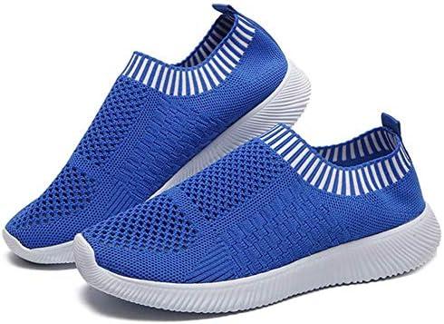 LuMon Mujer Ligero Zapatos para Caminar, Atlético Correr Zapatillas Transpirable Malla sin Cordones Zapatillas, Mujer Zapatillas Running para Caminar Correr Senderismo - Azul, 37: Amazon.es: Hogar