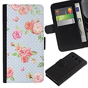 WINCASE (No Para S3 Mini) Cuadro Funda Voltear Cuero Ranura Tarjetas TPU Carcasas Protectora Cover Case Para Samsung Galaxy S3 III I9300 - dot rosa bebé azul retro verde