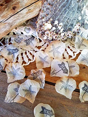 Beach Wedding Table Decorations,Beach Theme Party Decorations, Confetti, Beach Bridal Shower Decor ()
