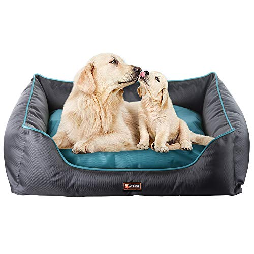 UFBemo Orthopedic Pet Dog Bed Lounge Sofa Removable Ultimate Pet Bed-(Medium Firmness, Waterproof Inner Liner, YKK Premium Zippers Cover PP Cotton Dogs & Cats