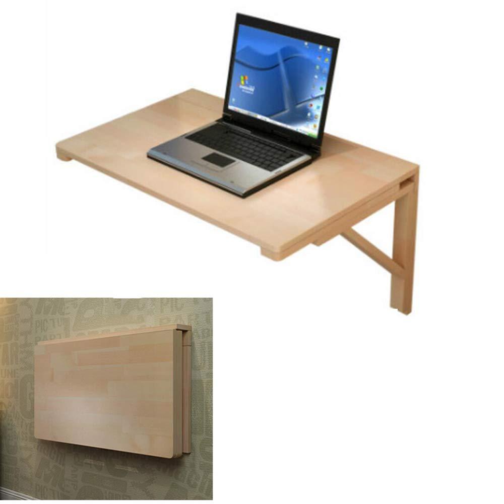 Tavolo da Studio Scrivania per Computer da Ufficio Koovin Tavolo Pieghevole A Muro in Legno Massello Tavolo da Pranzo Carico Massimo di 60 kg Risparmio di Spazio