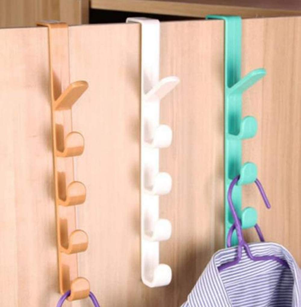 Hpybest 1pc Door Storage Rack Towel Coat Belt Hanger Organizer for Home Kitchen Bathroom