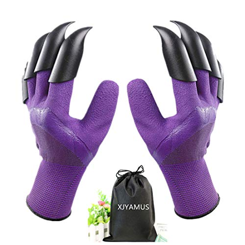 XJYAMUS Gardening Gloves, Waterproof Garden Gloves with Claw For Digging Planting, Best Gardening Gifts for Women and…