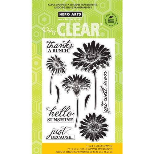 Hero Arts CL776 Hello Sunshine Clear Stamp Set -