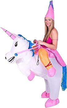 Amazon.com: Disfraz hinchable de unicornio de Ztl para ...