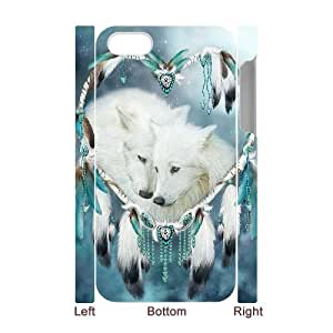 TOSOUL Diy hard Case Wolf Dream Catcher customized 3D case For Iphone 4/4s