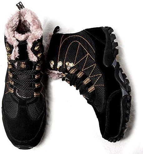 男性女性の冬のブーツハイキング、雪のアンクルブーツは、ホット毛皮の冬のハイキングザ・レジャー冬の滑り止め防水ハイキングユニセックスシューズ