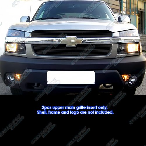Top 2001-2006 Chevy Avalanche With Body Cladding Black Billet Grille Grill Insert #N19-H92356C