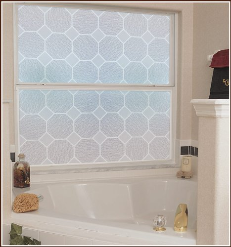 Glass Block Frosted Etched Glass Static Cling Decorative Window Film 48