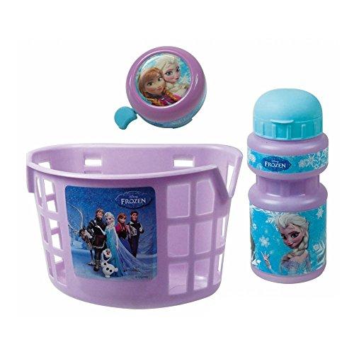 OFFICIAL Disney Frozen 3 Piece Bike Accessory Kit (Frozen Basket)