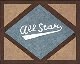 All Star Sports Accent Floor Rug by Sweet Jojo Designs